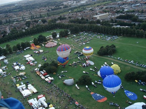 hot air balloons taking off from Northampton